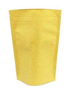 Kraft Stand Up Zipper Pouches Brown