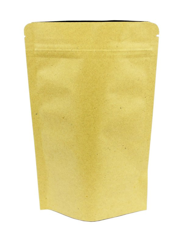Aluminum Coated Kraft Stand Up Zipper Pouches