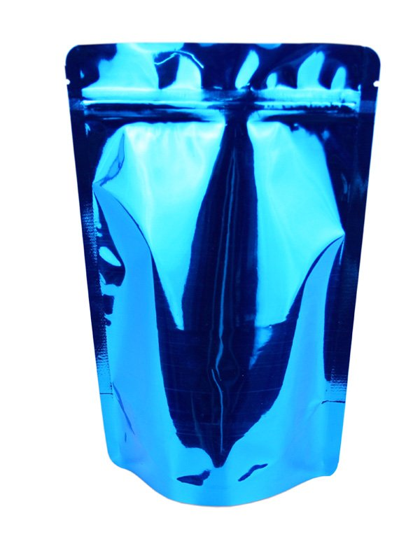 Metallized Stand Up Zipper Pouches Blue