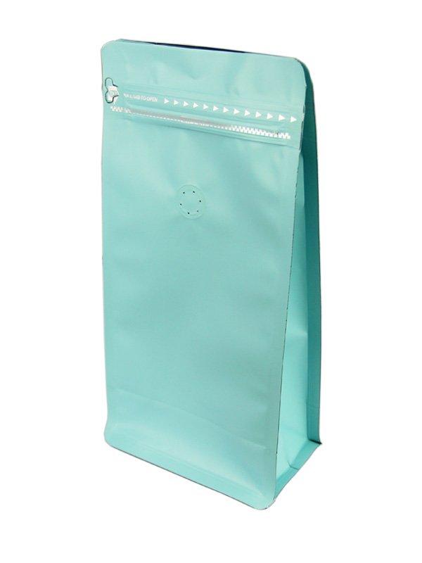 Blue Flat Bottom Zipper Bag