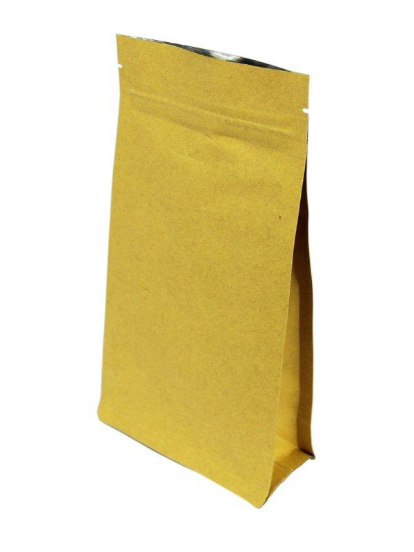 Brown Flat Bottom Zipper Bag Without Valve
