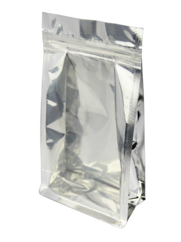 Metallized Flat Bottom Zipper Bag Side Clear