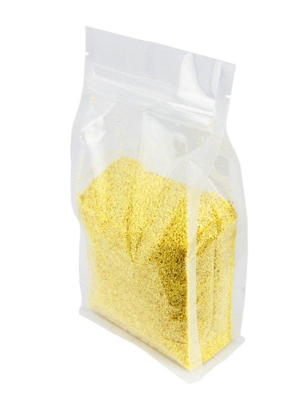 Plastic Flat Bottom Zipper Bag Clear
