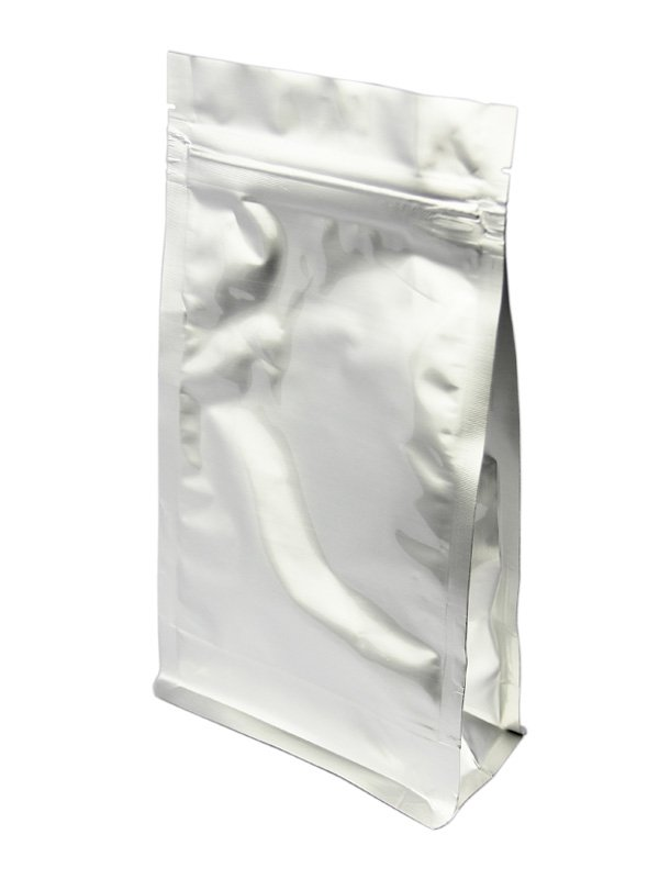 Silver Flat Bottom Zipper Bag Without Valve