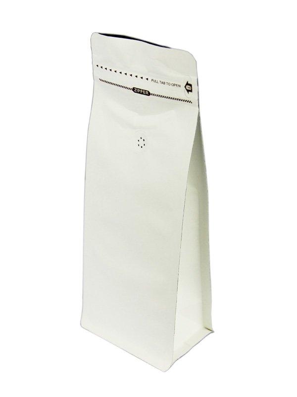 White Kraft Flat Bottom Zipper Bag