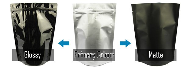 glossy or matte finishes for pouch