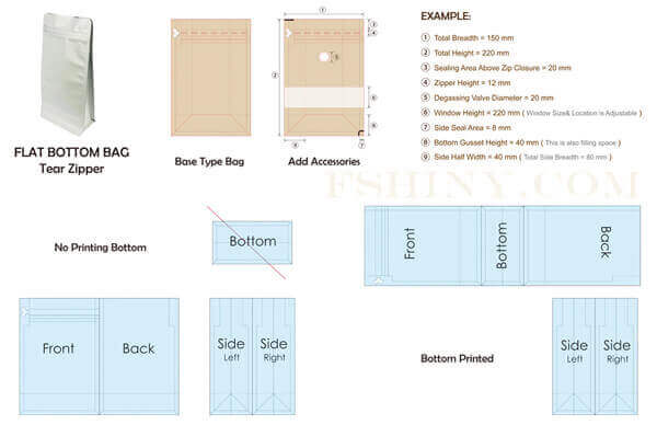 Flexible Packaging Pouches Dieline Templates Download Free