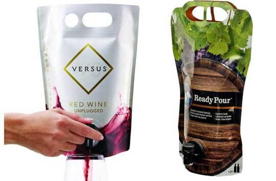 Wine Pouches With Spout